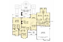 European Floor Plan - Main Floor Plan Plan #929-1056