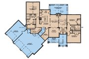 European Style House Plan - 3 Beds 2 Baths 2085 Sq/Ft Plan #923-180 Floor Plan - Main Floor