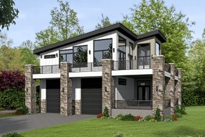 Country Exterior - Front Elevation Plan #932-99