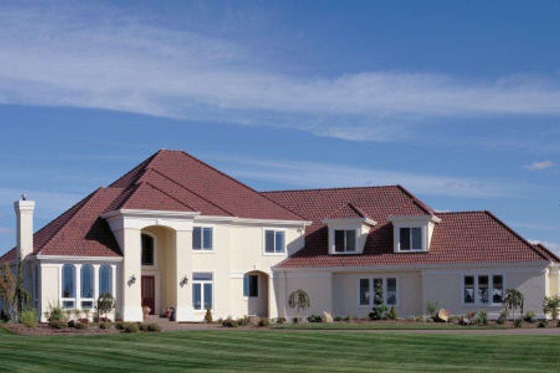 Dream House Plan - Mediterranean Exterior - Front Elevation Plan #48-351
