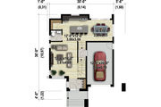 Contemporary Style House Plan - 3 Beds 1 Baths 1660 Sq/Ft Plan #25-4308 Floor Plan - Main Floor Plan