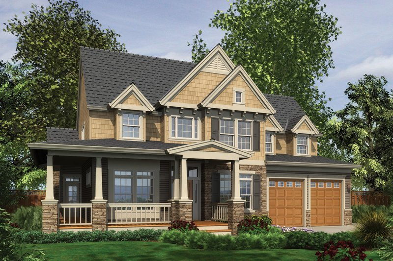 Craftsman style, Country design, elevation