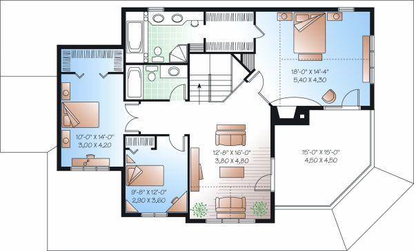 Country Floor Plan - Upper Floor Plan #23-744