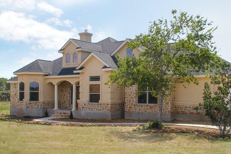Dream House Plan - Mediterranean Exterior - Front Elevation Plan #80-142