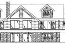 Dream House Plan - Modern Exterior - Rear Elevation Plan #117-487