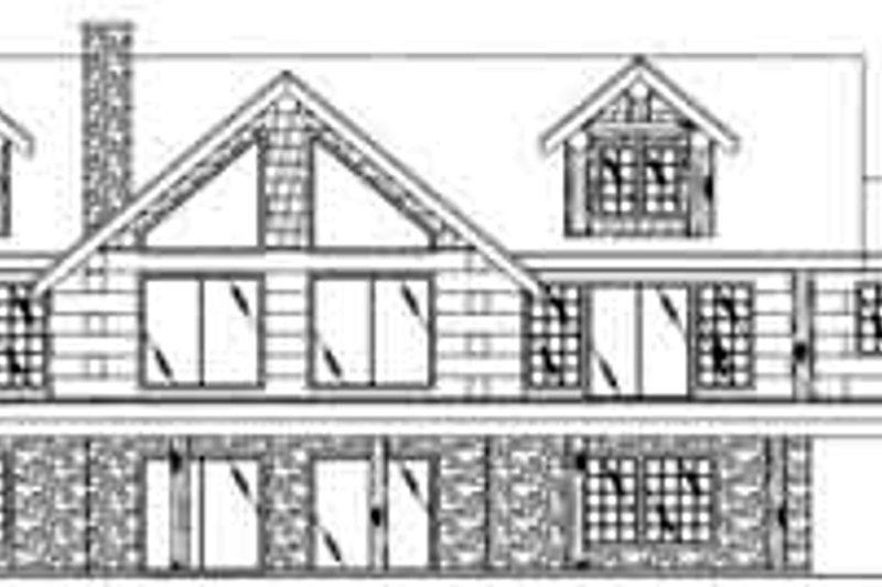 Modern Exterior - Rear Elevation Plan #117-487 - Houseplans.com