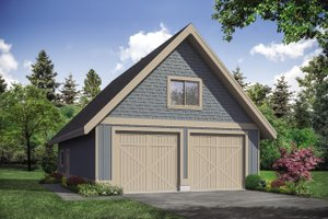 Country Exterior - Front Elevation Plan #124-1145
