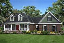 Dream House Plan - Country style home, Front Elevation