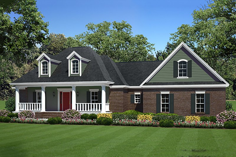 Country Style House Plan - 3 Beds 2 Baths 1925 Sq/Ft Plan #21-374 Exterior - Front Elevation