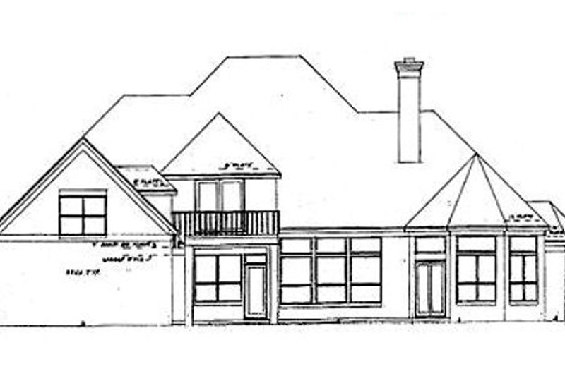 European Exterior - Rear Elevation Plan #52-181 - Houseplans.com