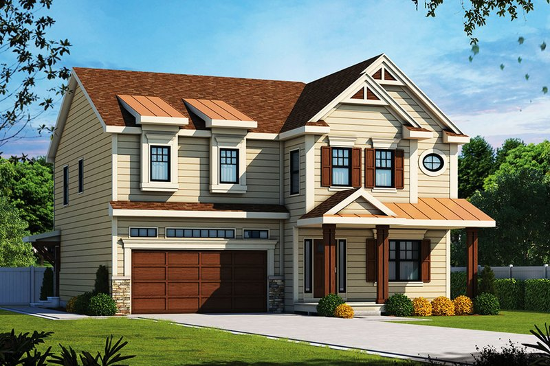 Craftsman Exterior - Front Elevation Plan #20-2326