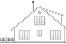 Cottage Exterior - Rear Elevation Plan #124-452