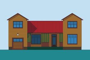 Craftsman Exterior - Front Elevation Plan #492-5