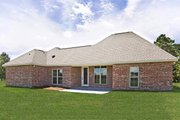 Southern Style House Plan - 4 Beds 2 Baths 1875 Sq/Ft Plan #430-183 Exterior - Rear Elevation