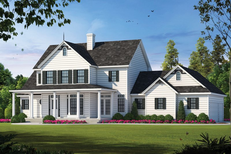 Country Exterior - Front Elevation Plan #20-843