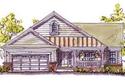 Craftsman Style House Plan - 2 Beds 2 Baths 1902 Sq/Ft Plan #20-127 Exterior - Front Elevation