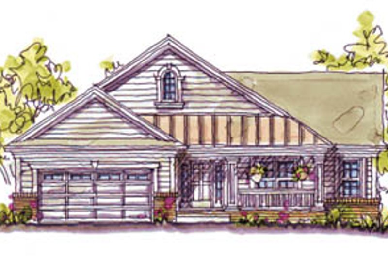 Craftsman Exterior - Front Elevation Plan #20-127