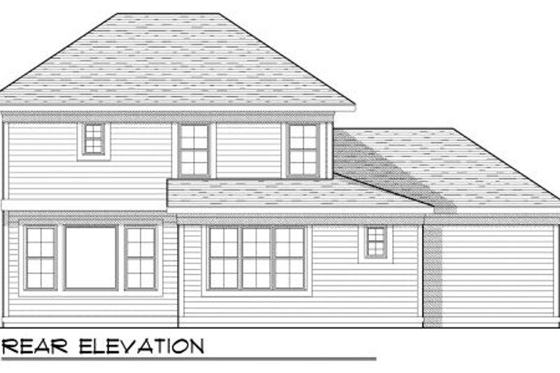 Traditional Exterior - Rear Elevation Plan #70-949 - Houseplans.com