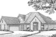 European Style House Plan - 3 Beds 3 Baths 2509 Sq/Ft Plan #310-372 Exterior - Front Elevation