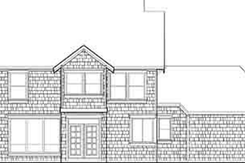 Craftsman Exterior - Rear Elevation Plan #48-213 - Houseplans.com