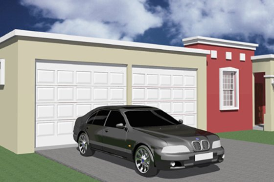 Exterior - Front Elevation Plan #495-2