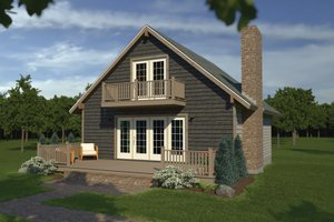 House Plan Design - Cottage Exterior - Front Elevation Plan #57-476