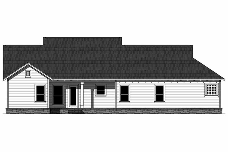 Craftsman Exterior - Rear Elevation Plan #21-344 - Houseplans.com