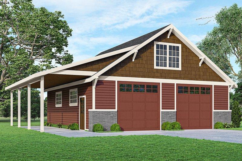 Architectural House Design - Craftsman Exterior - Front Elevation Plan #124-1239