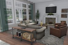 Dream House Plan - Farmhouse Interior - Family Room Plan #120-255