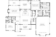 Farmhouse Style House Plan - 4 Beds 4.5 Baths 2911 Sq/Ft Plan #927-999 Floor Plan - Main Floor Plan