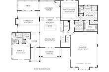 Farmhouse Floor Plan - Main Floor Plan Plan #927-999