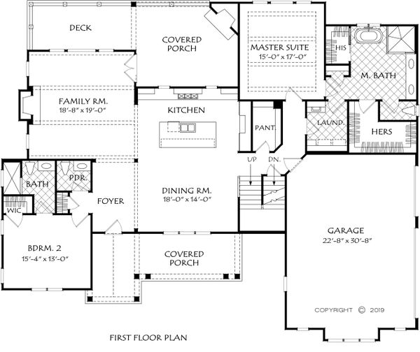 Farmhouse Floor Plan - Main Floor Plan Plan #927-999