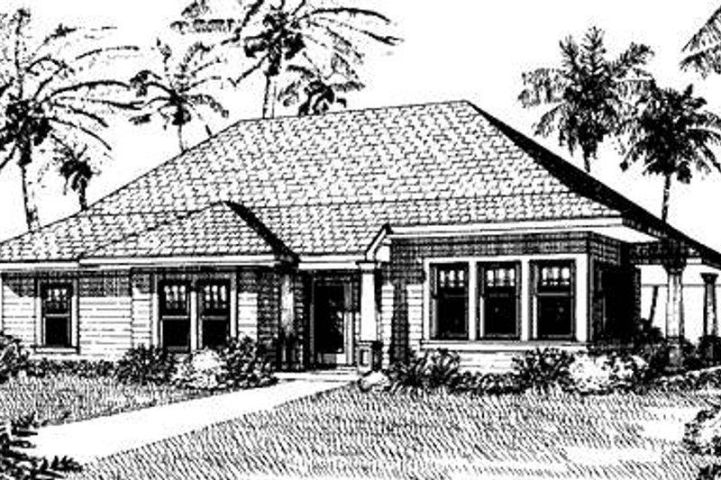 Craftsman Exterior - Front Elevation Plan #410-161