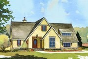European Style House Plan - 4 Beds 3.5 Baths 3397 Sq/Ft Plan #901-93 Exterior - Front Elevation