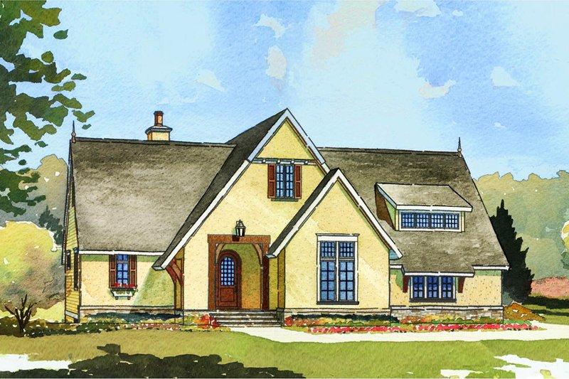 Dream House Plan - European Exterior - Front Elevation Plan #901-93