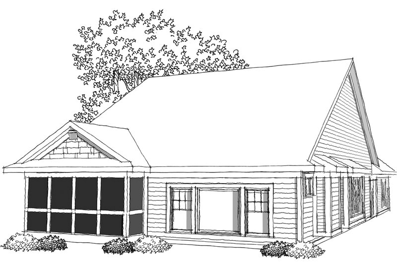 Ranch Exterior - Other Elevation Plan #70-1030 - Houseplans.com