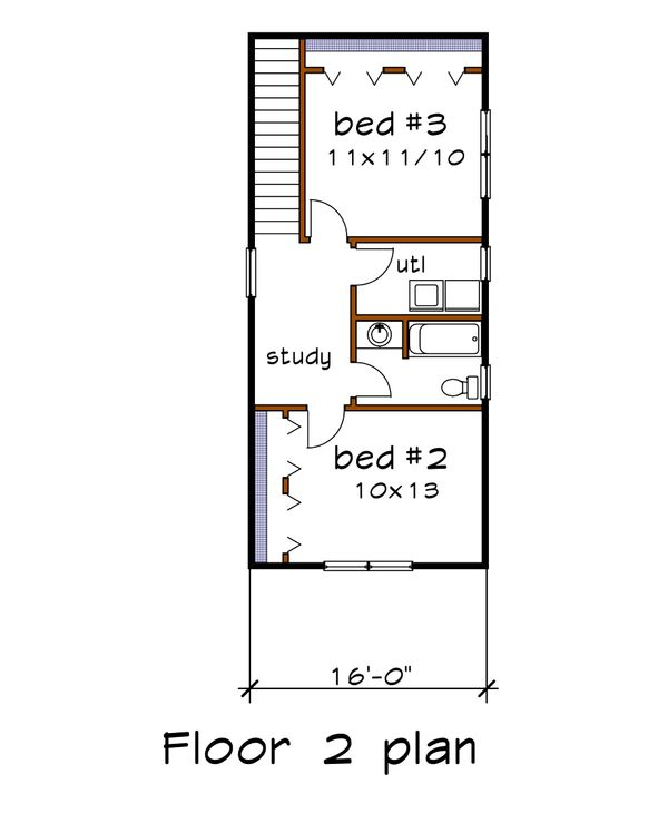 Country Floor Plan - Upper Floor Plan Plan #79-270