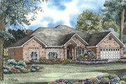 European Style House Plan - 4 Beds 2.5 Baths 2582 Sq/Ft Plan #17-141 Exterior - Front Elevation