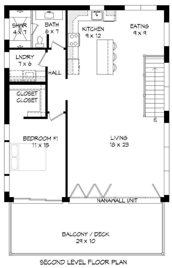 Contemporary Floor Plan - Upper Floor Plan Plan #932-300