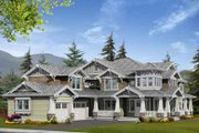Craftsman Style House Plan - 4 Beds 3 Baths 4450 Sq/Ft Plan #132-170 Exterior - Front Elevation