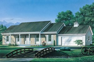 Ranch Exterior - Front Elevation Plan #57-466