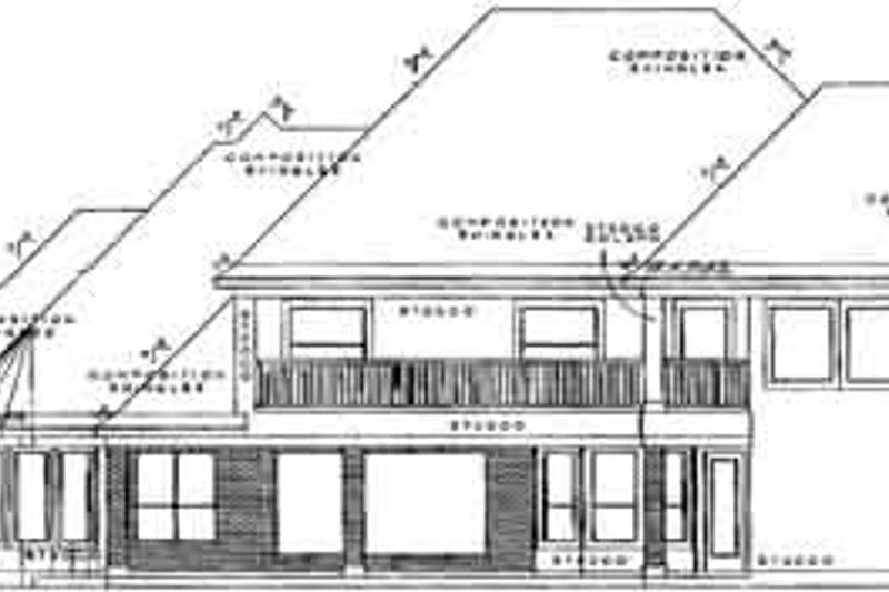 European Exterior - Rear Elevation Plan #61-228 - Houseplans.com