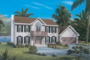 Classical Style House Plan - 3 Beds 2.5 Baths 2411 Sq/Ft Plan #57-106 Exterior - Other Elevation