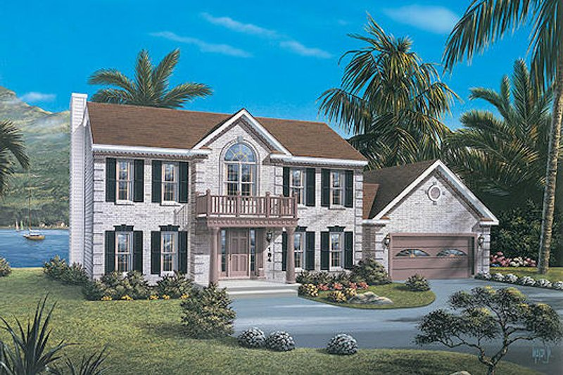 Classical Exterior - Other Elevation Plan #57-106 - Houseplans.com