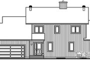Contemporary Style House Plan - 3 Beds 2.5 Baths 2100 Sq/Ft Plan #23-397 Exterior - Other Elevation