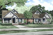 House Plan Design - Traditional Exterior - Front Elevation Plan #17-2401