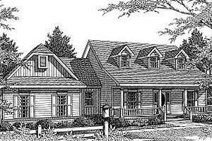 Country Exterior - Front Elevation Plan #14-214
