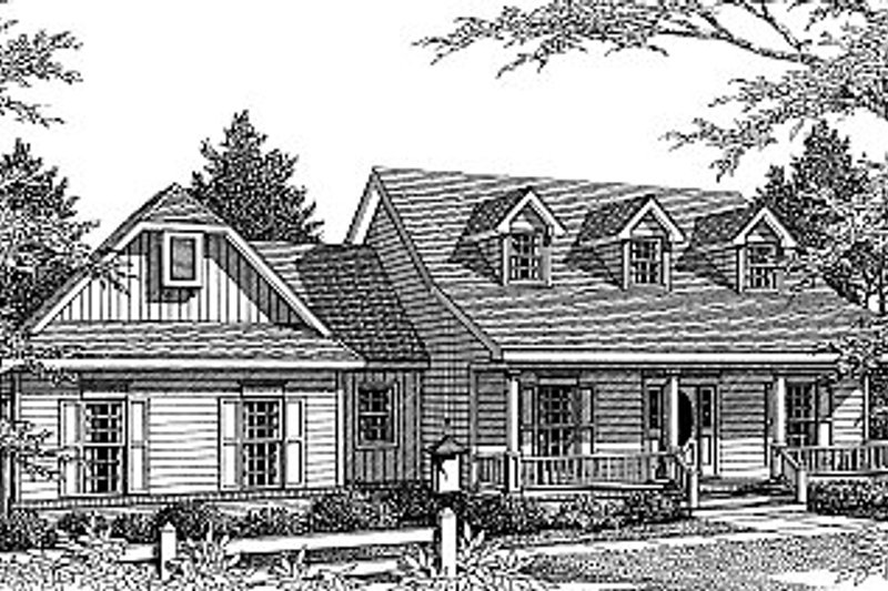 Home Plan - Country Exterior - Front Elevation Plan #14-214