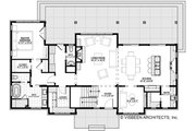 Cottage Style House Plan - 4 Beds 3.5 Baths 2740 Sq/Ft Plan #928-302 Floor Plan - Main Floor Plan