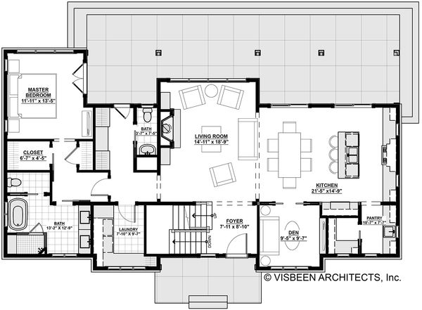 House Plan Design - Cottage Floor Plan - Main Floor Plan #928-302